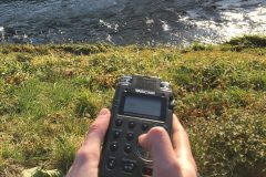 The Tascam DR-100 field recorder