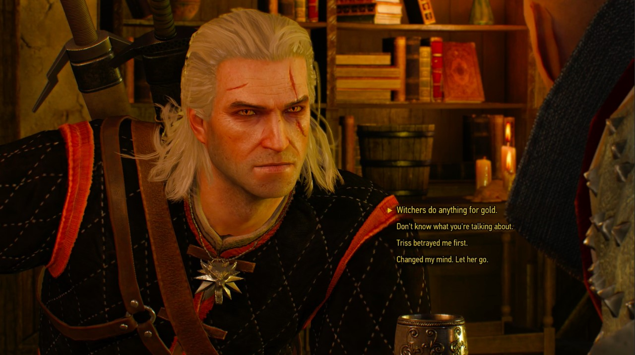 An example of dialogue from The Witcher 3