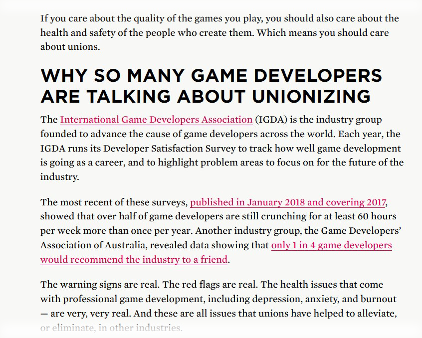 GameDev Industry is Suffering From Stockholm Syndrome - A blog about a trade union in game dev industry.