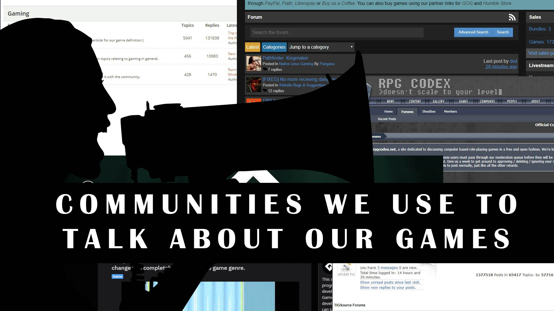 Communities we use to talk about our games